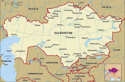 Kazakhstan-map-boundaries-cities-locator